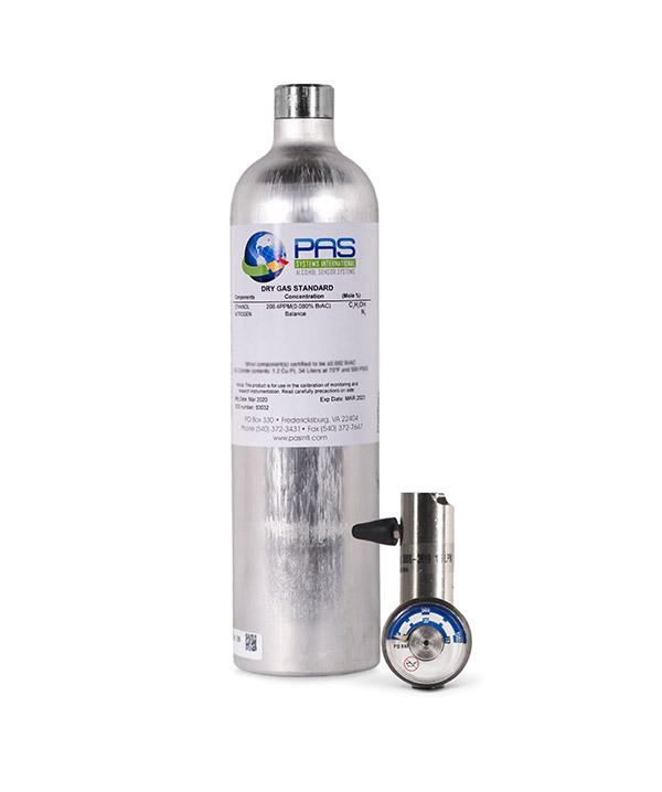 105 Liter Dry Gas (Ethanol Breath Standard) Cylinder Kit